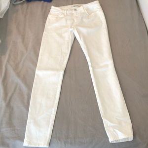 Joe's white skinny jeans